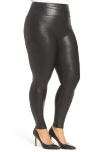faux leather legging maatje meer spanx